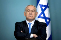 benjamin-netanyahu eyes closed
