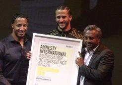 colin kaepernick amnesty award
