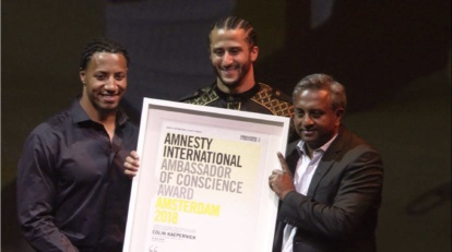 colin kaepernick amnesty award