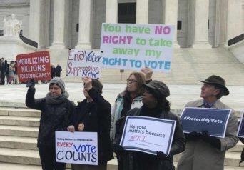 voters ohio protest