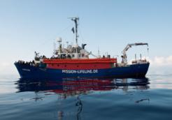 Flüchtlinge auf Rettungsschiff