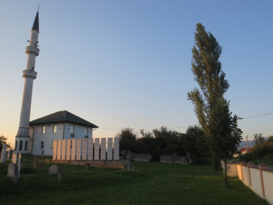 Mosque in Kevljani with preserved minaret, which was crushed down in the war1992