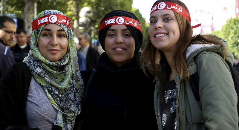 tunisian young women defending women's rights