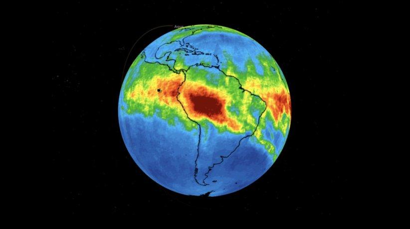 NASA Amazon rain forest fires