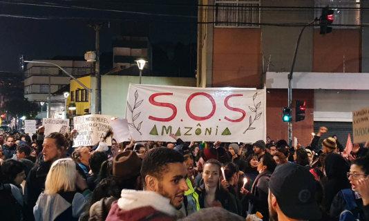 Protest in Curitiba, Brazil